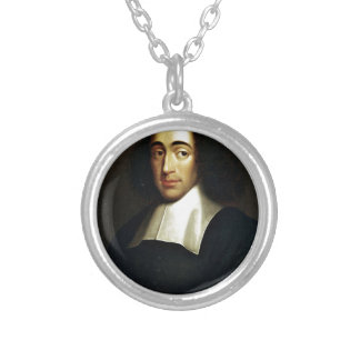 Baruch Spinoza Silver Plated Necklace