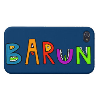 """""""Barun"""" Monster Letters iPhone 4 Cover"""
