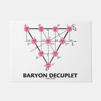 Baryon Decuplet (Particle Physics) Doormat