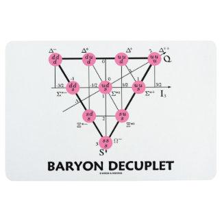 Baryon Decuplet (Particle Physics) Floor Mat
