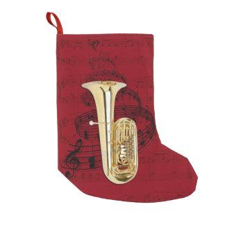 Bas de musique de tuba petite chaussette de noël