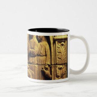 Bas relief of a hairdresser, Roman Two-Tone Coffee Mug