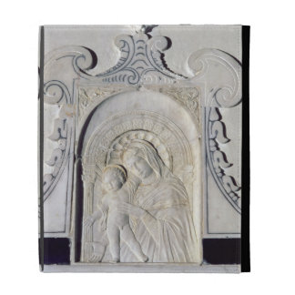 Bas-relief of a Madonna and Child (marble) iPad Folio Cover