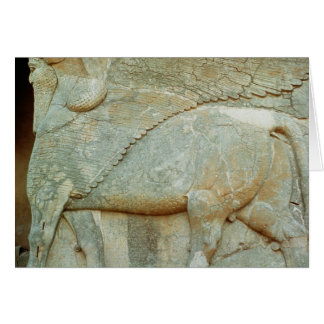 Bas-relief of an anthropomorphic bull card