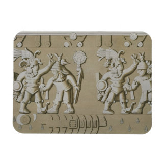 Bas Relief of Ancient Aztec Warriors, from The Sto Rectangular Photo Magnet