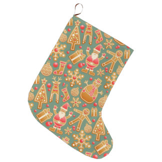 Bas uniques de Noël de cadeau de Noël de Père Noël Grande Chaussette De Noël