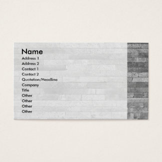 Basalt brick wall business card
