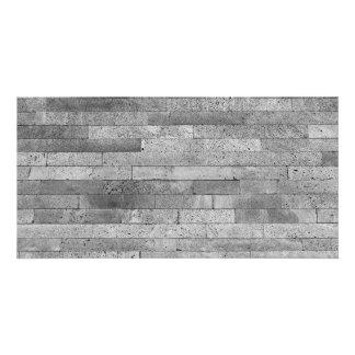 Basalt brick wall custom photo card