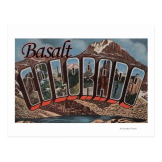 Basalt, Colorado - Large Letter Scenes Postcard