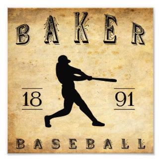 Base-ball 1891 de l Orégon de Baker Photographie D'art