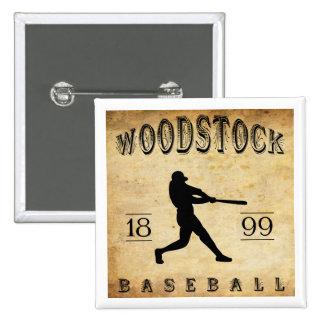 Base-ball 1899 de Woodstock Ontario Canada Pin's Avec Agrafe