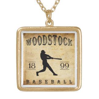 Base-ball 1899 de Woodstock Ontario Canada Pendentif Carré