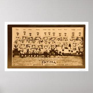 Base-ball 1913 des Red Sox de Boston Poster