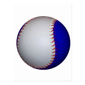 Base-ball/base-ball blancs et bleus cartes postales