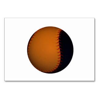 Base-ball/base-ball oranges et noirs