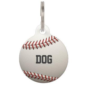Base-ball élégant plaque d'identité pour chien