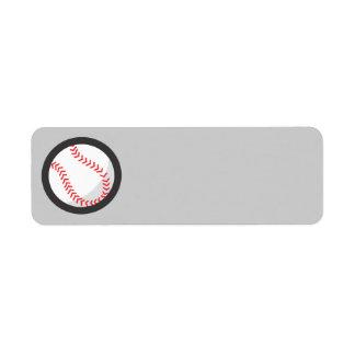 Base-ball Étiquette D'adresse Retour