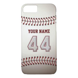 Base-ball numéro 44 avec votre nom - sportif coque iPhone 7
