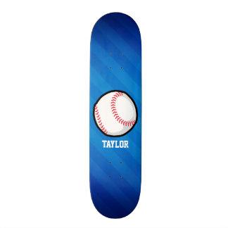 Base-ball ; Rayures bleues royales Skateboard 20,6 Cm