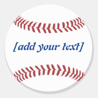 Base-ball [texte fait sur commande] sticker rond
