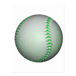 Base-ball vert clair de points cartes postales