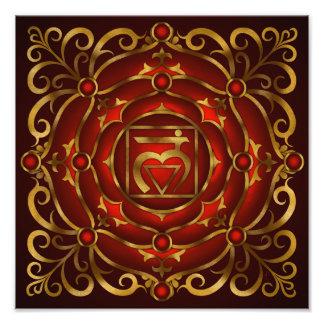 Base Chakra Mandala Print by Rachel C Bemis Photo