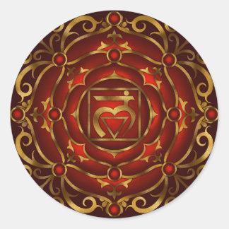 Base Chakra Mandala Sticker by Rachel C. Bemis