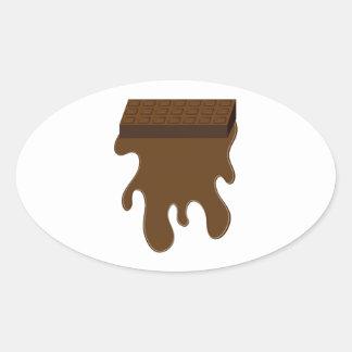 Base de barre de chocolat autocollant ovale
