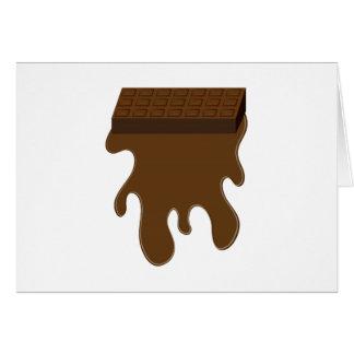 Base de barre de chocolat cartes de vœux