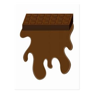 Base de barre de chocolat cartes postales