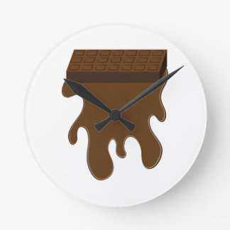 Base de barre de chocolat horloges murales