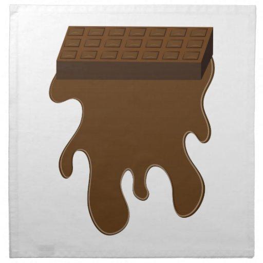 Base de barre de chocolat serviette en tissu