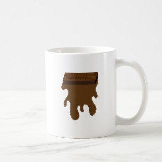 Base de barre de chocolat tasse à café