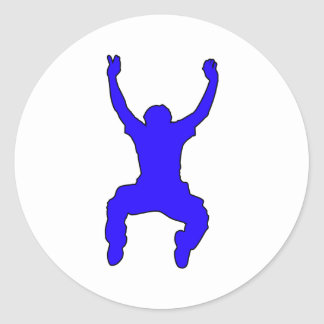 BASE Jumper Silhouette Free Falling Jump Round Sticker