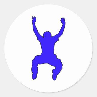 BASE Jumper Silhouette Free Falling Jump Classic Round Sticker