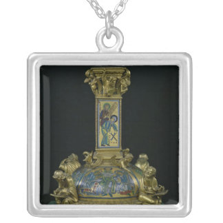 Base of the Cross of St. Bertin Silver Plated Necklace