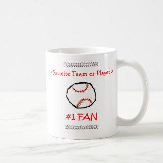 Baseball #1 Fan Customize it Classic White Coffee Mug