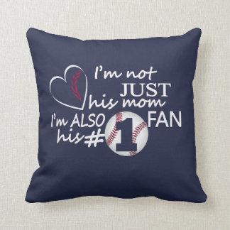 Baseball #1 Mom Throw Pillow