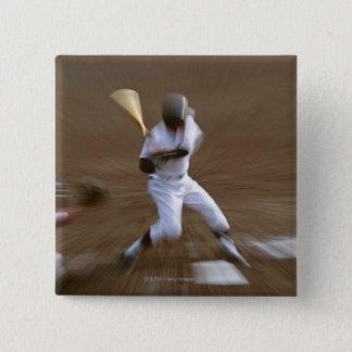 Baseball 2 Inch Square Button