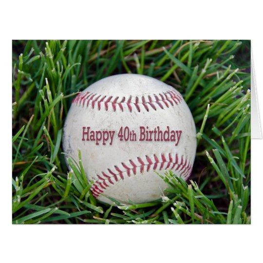 baseball-40th Birthday Card