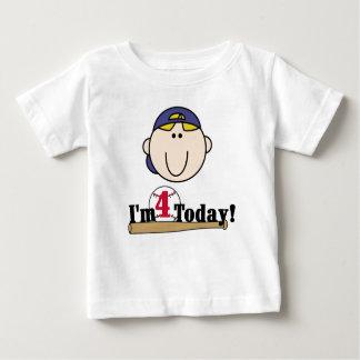 Baseball 4th Birthday Baby T-Shirt