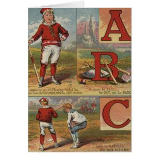 Baseball ABC Card