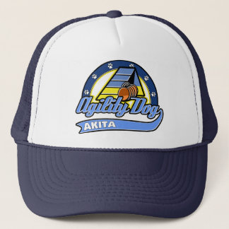Baseball Akita Agility Trucker Hat