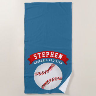 Baseball All-Star Beach Towel