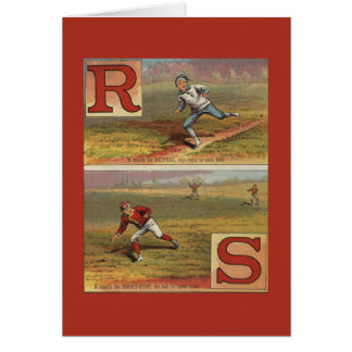 Baseball Alphabet R and S Card