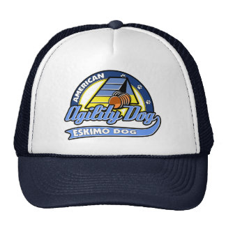 Baseball American Eskimo Dog Agility Trucker Hat