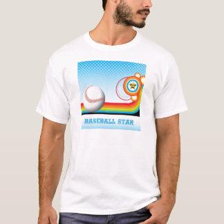 Baseball and Rainbow Stripe  BASEBALL Star T-Shirt