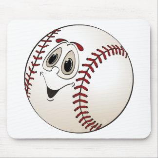 Baseball Angled Cartoon Mouse Pad