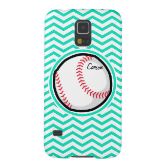 Baseball Aqua Green Chevron Galaxy S5 Cover