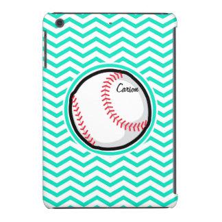 Baseball Aqua Green Chevron iPad Mini Case